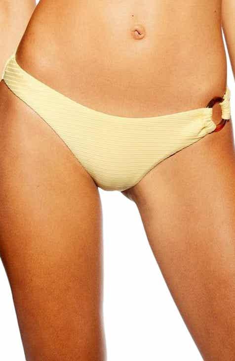 3c8320983326e Topshop Tortoise Ring Ribbed Bikini Bottoms