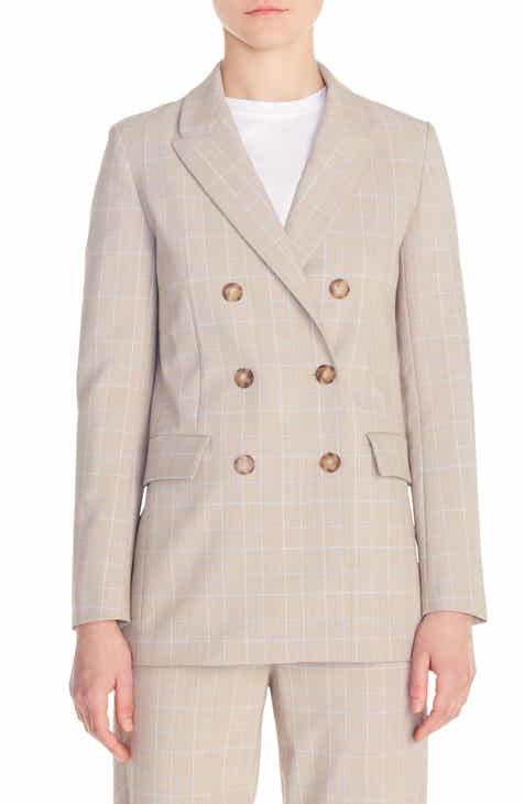 maje Vikam Double Breasted Plaid Blazer by MAJE