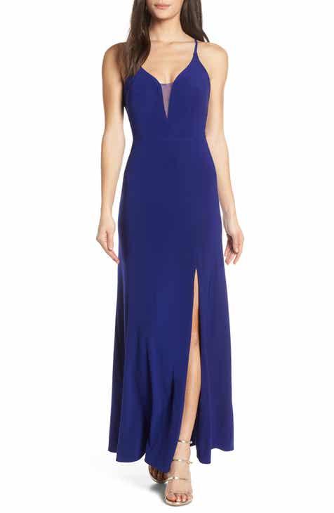 a19611eb7df Morgan   Co. Lace-Up Back Evening Dress