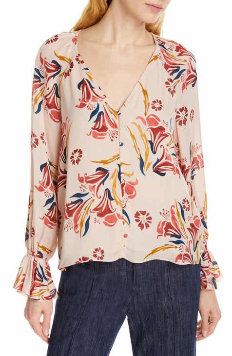b574c926cad Joie Boyana Floral Silk Blouse