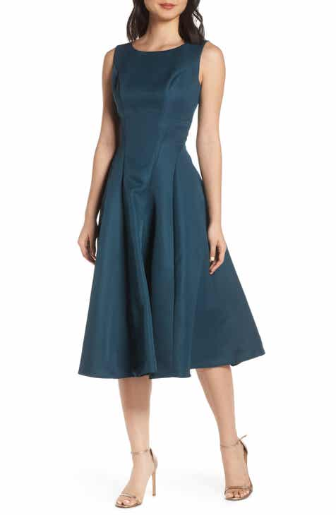 Women S Green Fit Amp Flare Dresses Nordstrom
