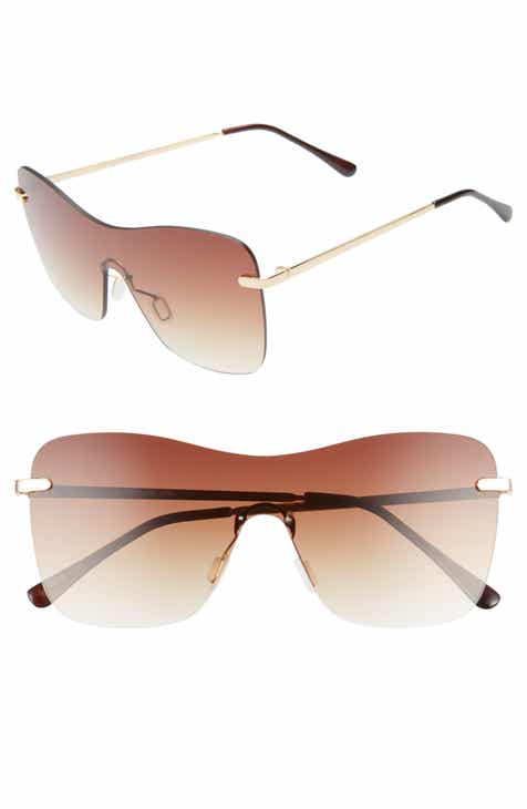 45c2b577a5 Glance Eyewear 58mm Rimless Shield Sunglasses