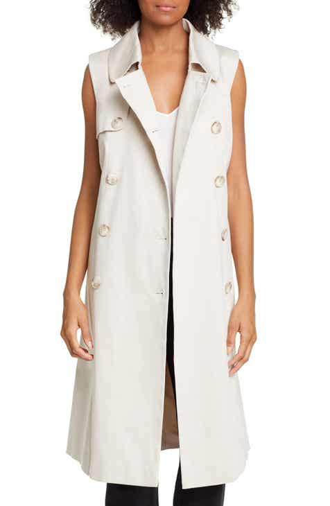 Helene Berman Sleeveless Stretch Cotton Trench Coat by HELENE BERMAN