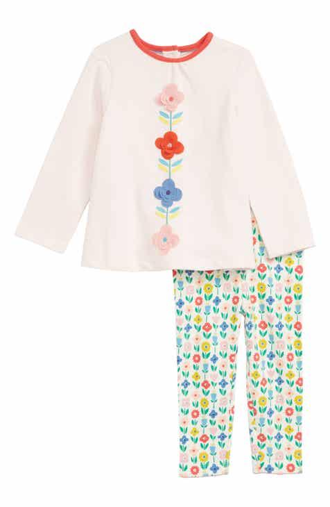 be3f737348b Mini Boden Flower Top   Leggings Set (Baby)