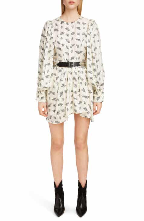 Isabel Marant Reone Fan Print Silk Dress by ISABEL MARANT