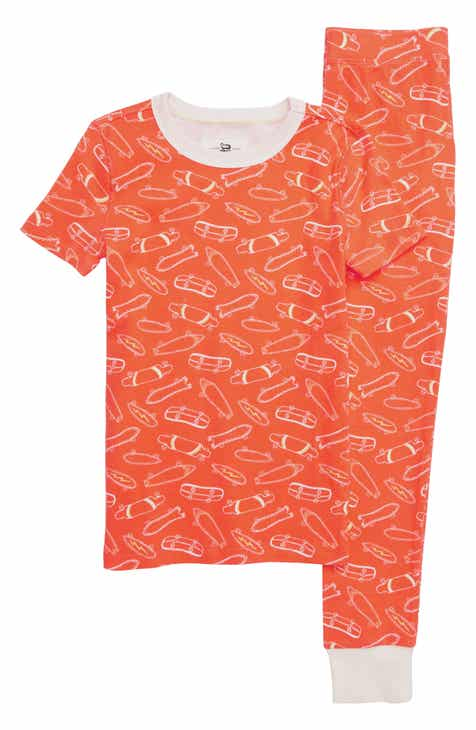 crewcuts by J.Crew Skateboards Fitted Two-Piece Pajamas (Toddler Boys 1d616be42