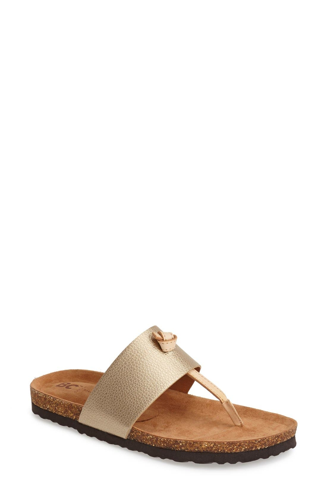 Alternate Image 1 Selected - BC Footwear 'Lynx' Faux Leather Thong Sandal (Women)