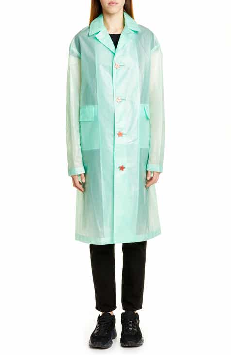 Undercover Transparent Logo Coat by UNDERCOVER
