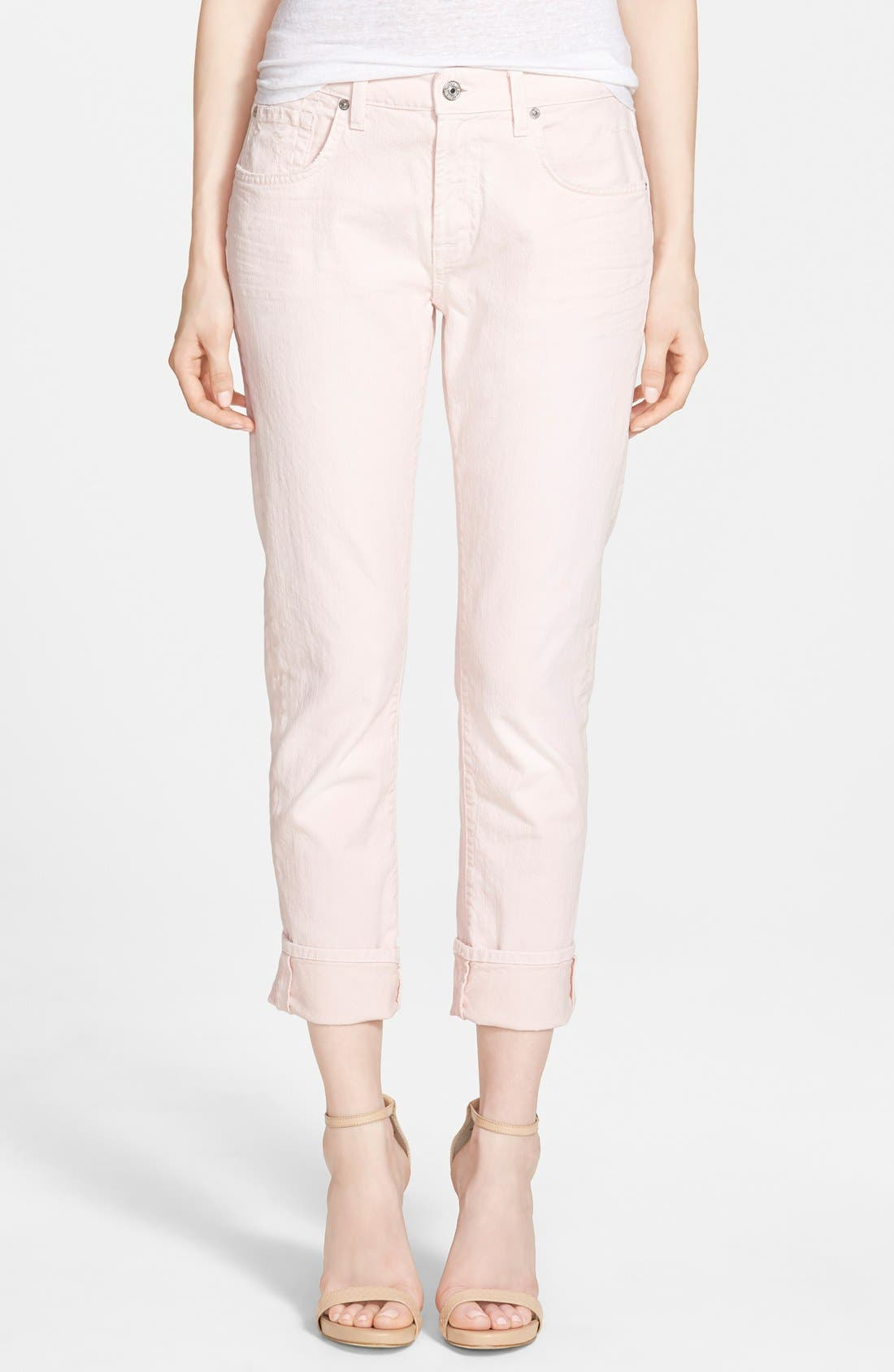 Main Image - 7 For All Mankind® Relaxed Skinny Jeans (Whisper Pink)