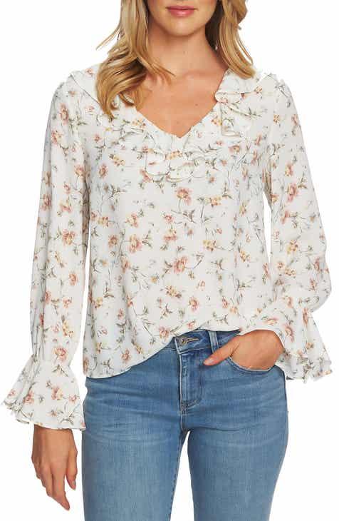 CeCe Duchess Floral Blouse.  79.00. (3). Product Image. IVORY EGRET 2ba9c87ba