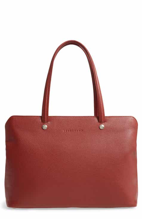 3ad22469ab63 Longchamp Le Foulonne Leather Tote