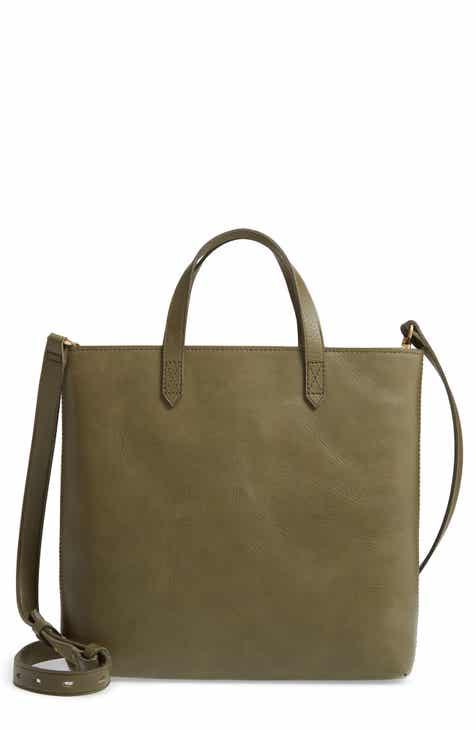 8e38e91114d Madewell Small Transport Leather Crossbody Tote
