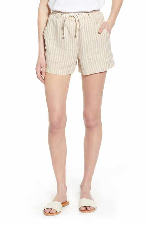 Lou & Grey Stripe Linen Shorts by LOU AND GREY