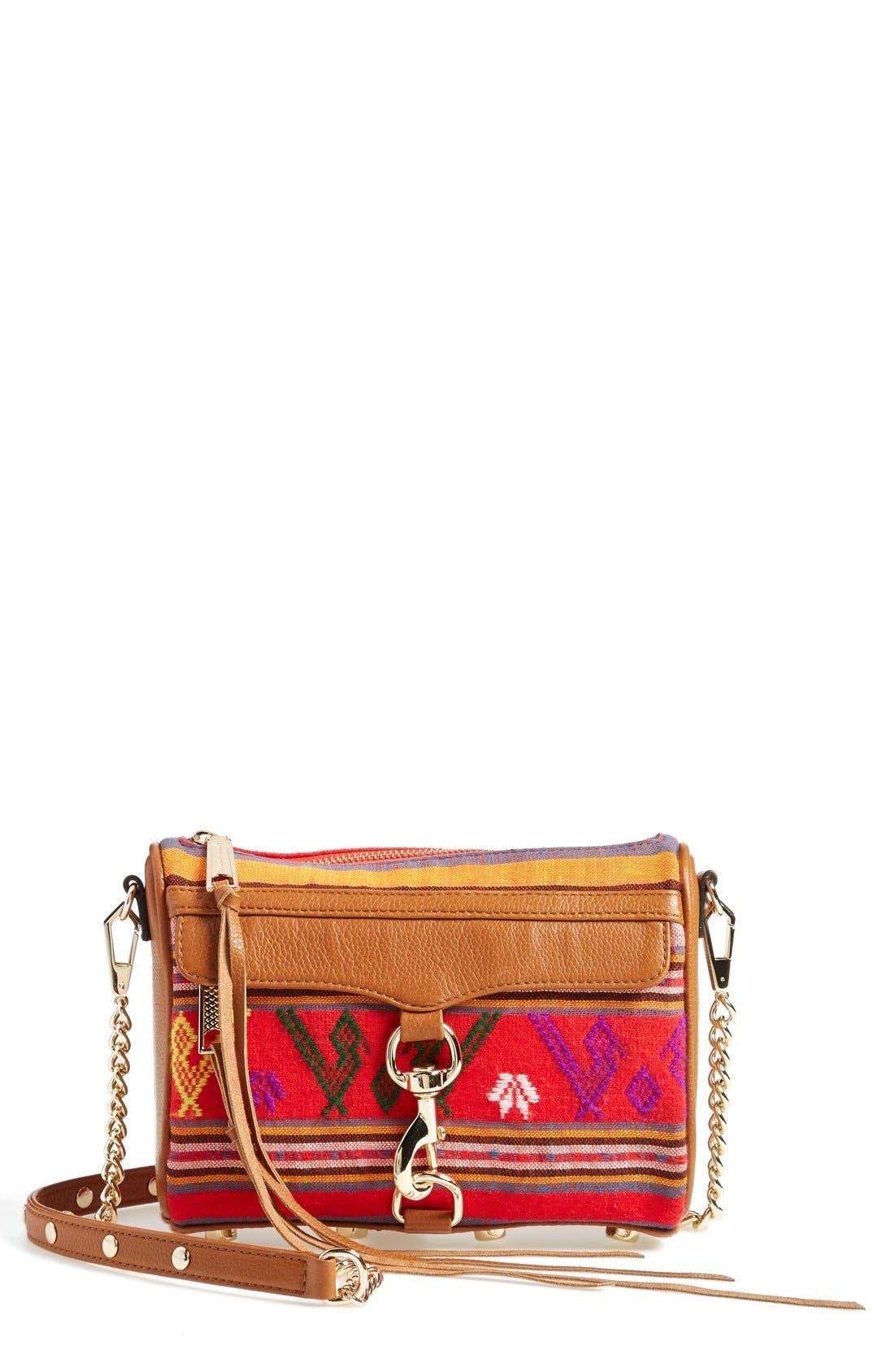 Piece & Co. and Rebecca Minkoff 'Mini MAC' Convertible Crossbody Bag,                         Main,                         color, Orange Multi