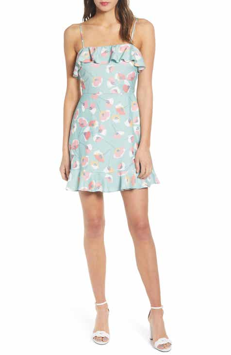 Tory Burch Cora Souvenir Print Long Sleeve Silk Shirtdress by TORY BURCH