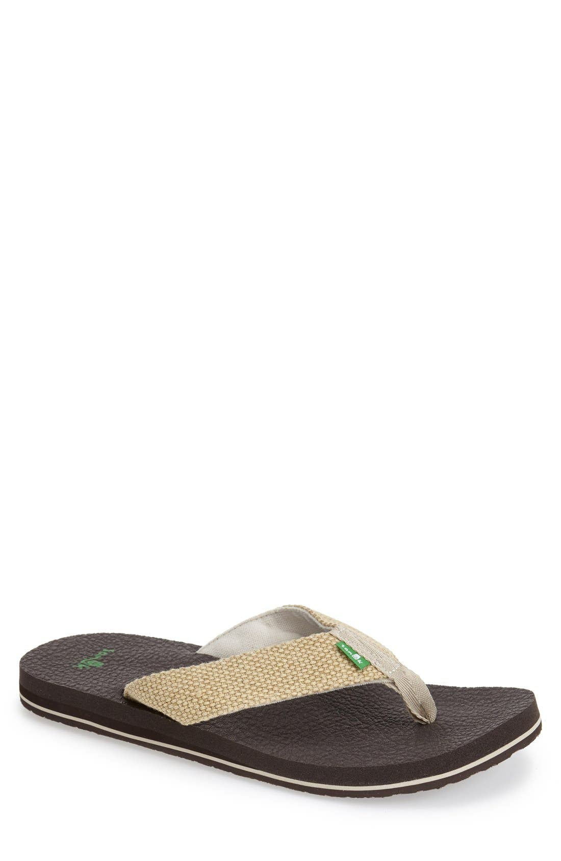 Sanuk 'Yogi 4 Beer Cozy' Flip Flop (Men)