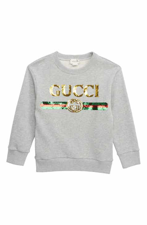 6f1d5d2bd5545 Gucci Embellished Sweatshirt (Little Girls   Big Girls)