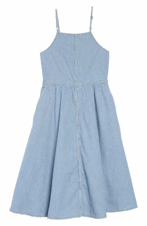 d27d60c80d10 Treasure   Bond Stripe Apron Dress (Big Girls)