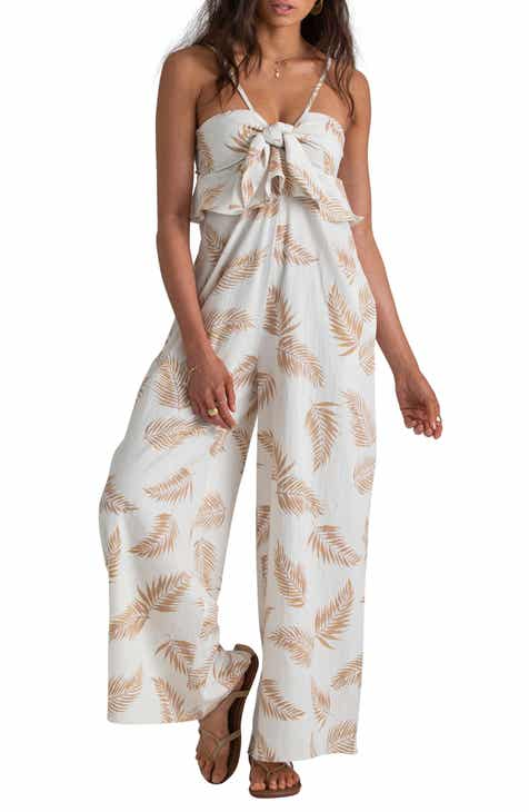 Eliza J Off the Shoulder Bell Sleeve Slim Leg Jumpsuit (Regular & Petite) by ELIZA J