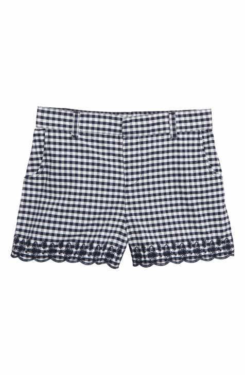 6b51caef1665 Tucker + Tate Embroidered Gingham Shorts (Big Girls)