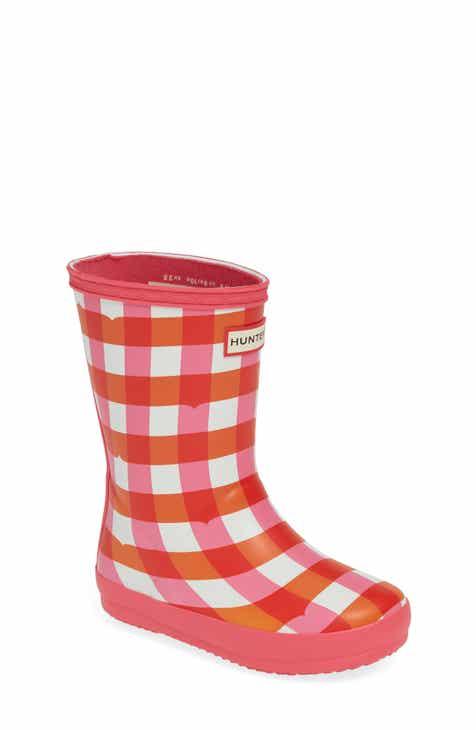 5d6de18eb87d Hunter Classic Gingham Waterproof Rain Boot (Toddler   Walker)