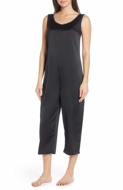 Chalmers Fiona Midnight Satin Crop Jumpsuit by CHALMERS