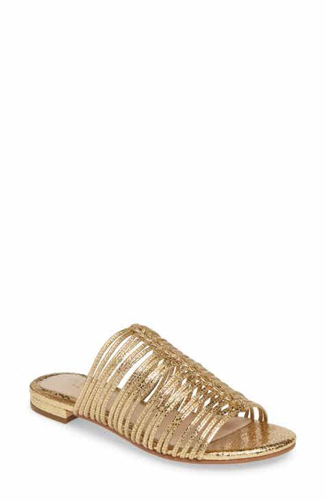 c7e0d49bdc68 Women s Metallic Flat Heeled Sandals