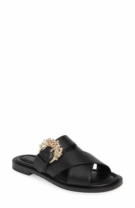 ce9f41270a11f5 MICHAEL Michael Kors Frieda Embellished Slide Sandal (Women)