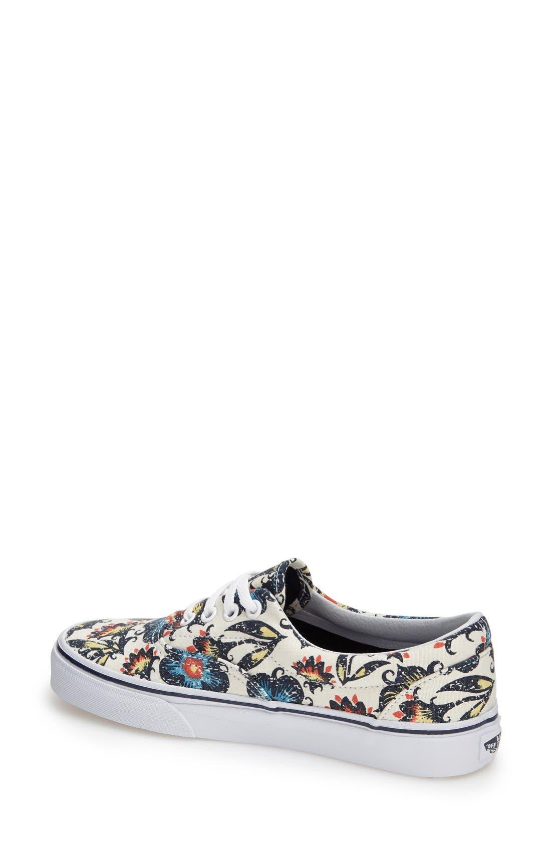 Alternate Image 2  - Vans 'Era' Floral Print Sneaker (Women)