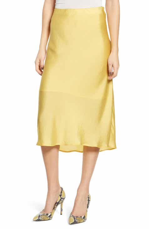 Leith Fluid Satin Midi Skirt 3ae7ef6b2