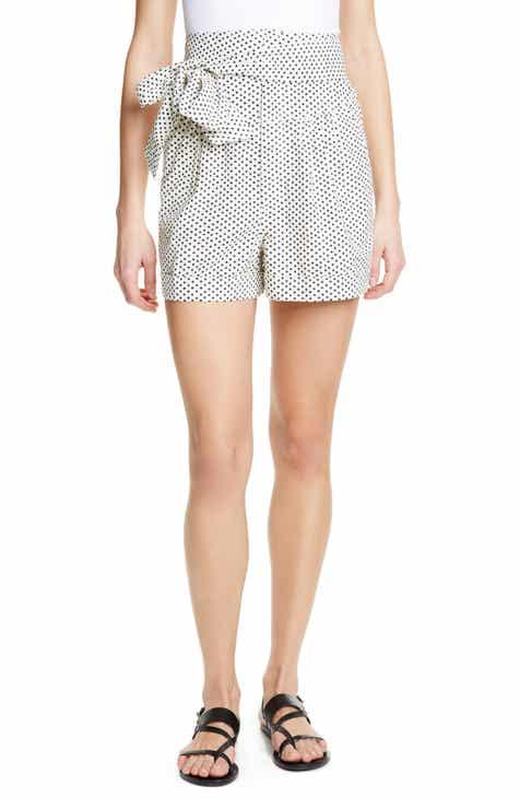 c092325f1c0 La Vie Rebecca Taylor Corrine Polka Dot Tie Waist Cotton Shorts
