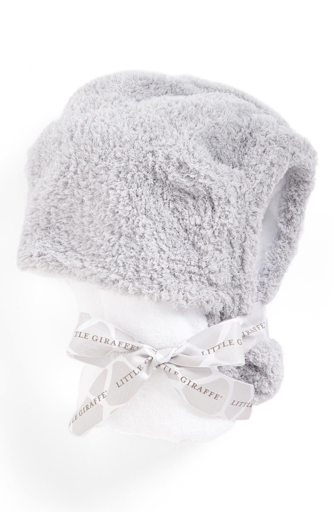 Alternate Image 1 Selected - Little Giraffe Chenille Hooded Towel (Baby)