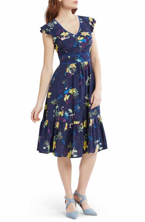 d0849b267b8b ModCloth Print Fit & Flare Dress (Regular & Plus Size)