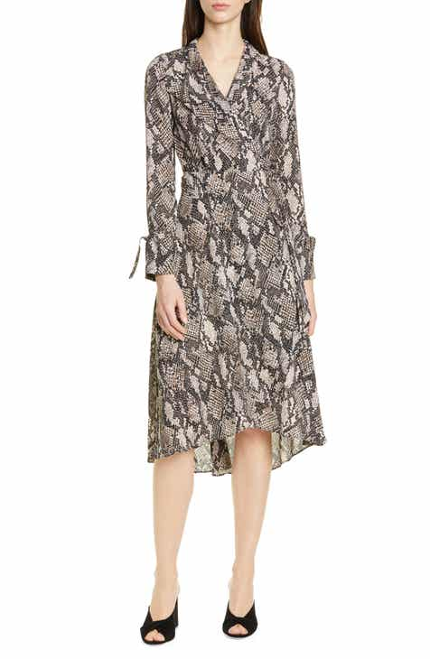 Karen Millen Snake Print Long Sleeve Dress by KAREN MILLEN