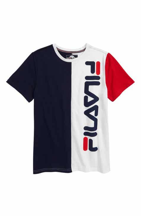 a58f2009c774 FILA Colorblock Center Logo T-Shirt (Little Boys   Big Boys)