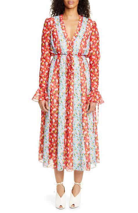 Carolina Herrera Long Sleeve Midi Dress by CAROLINA HERRERA