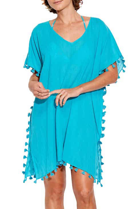 9316534013 Seafolly  Amnesia  Cotton Gauze Cover-Up Caftan