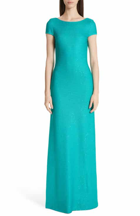 St. John Collection Links Sequin Knit Trumpet Gown by ST. JOHN COLLECTION