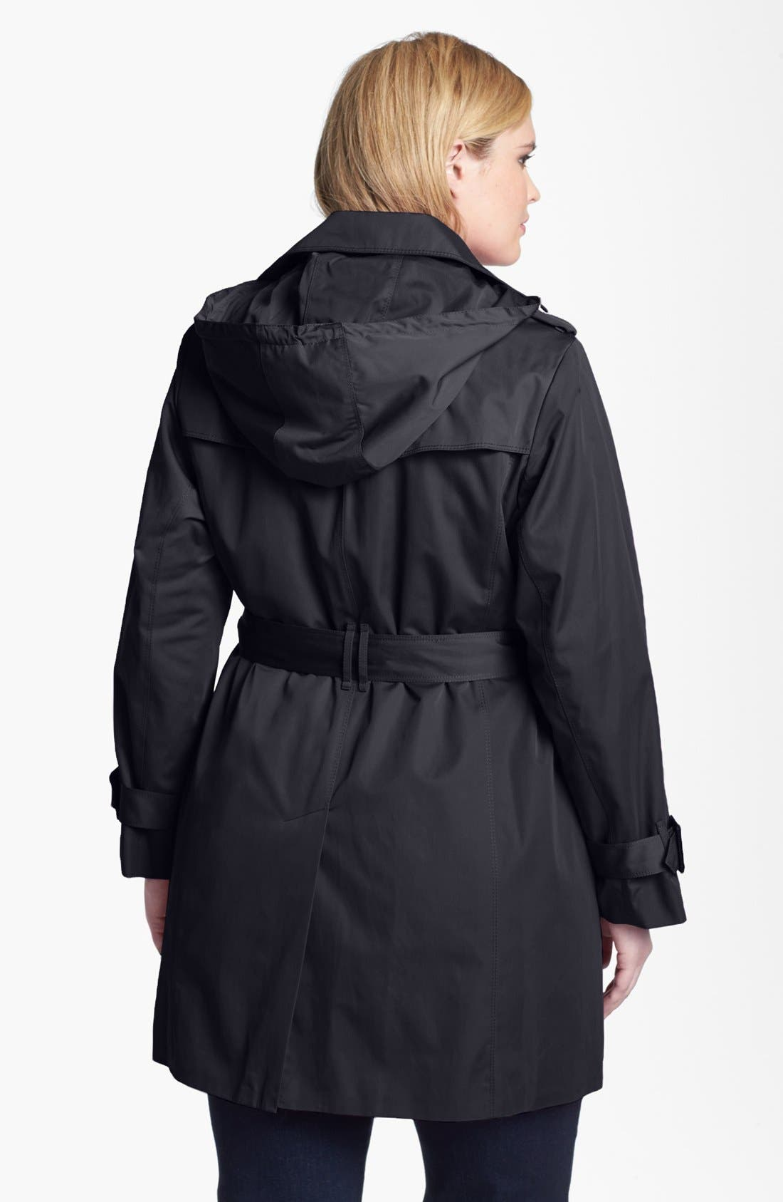 Alternate Image 2  - London Fog Heritage Trench with Detachable Liner (Plus Size)