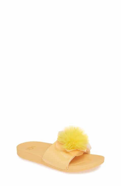 d0333a33ca60 UGG® Faux Fur Cactus Flower Slide Sandal (Toddler