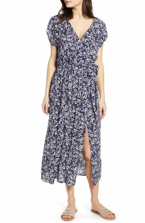MINKPINK Wild Jasmine Print Midi Wrap Dress by MINKPINK