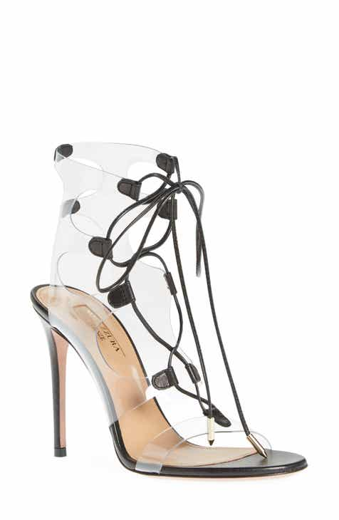 efd06c5971d Aquazzura Milos PVC Lace-Up Sandal (Women)