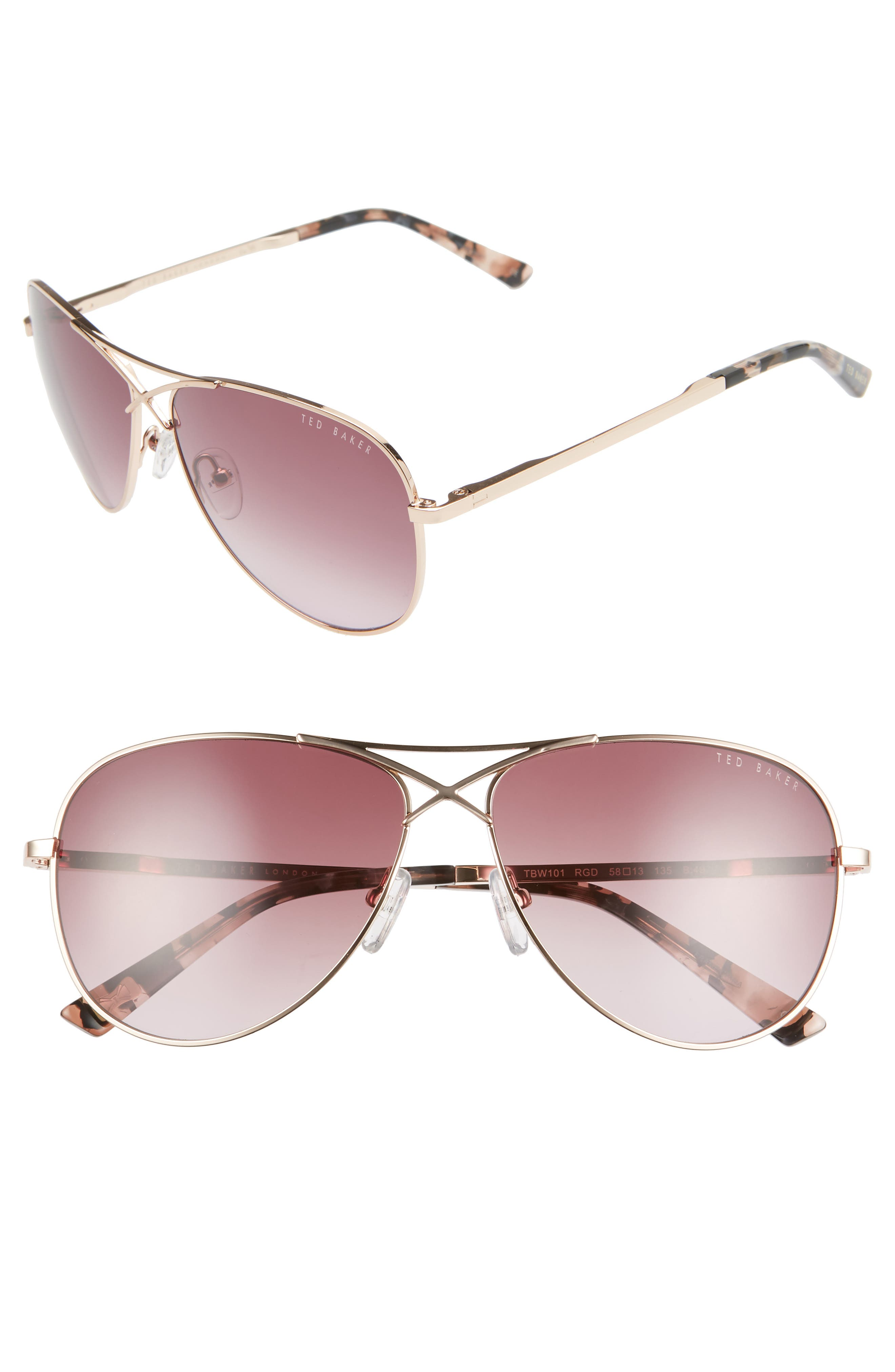 f6a95ac23e5a7 Ted Baker London Aviator Sunglasses