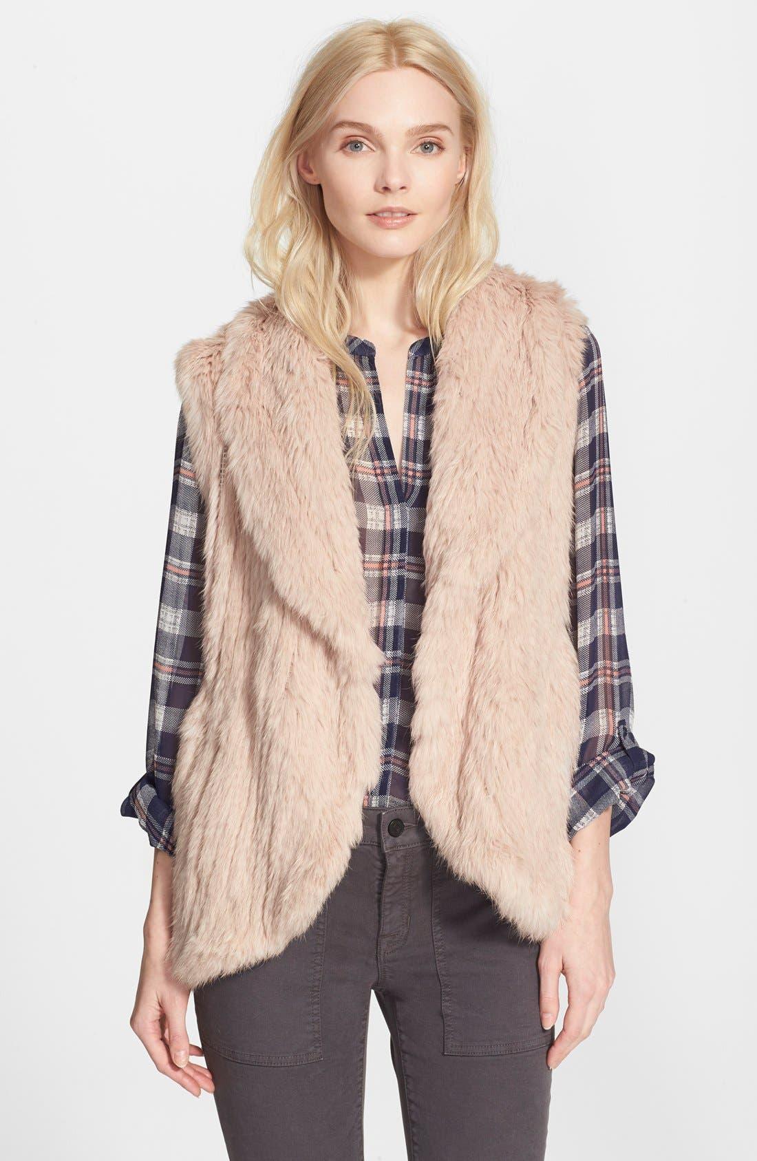 Alternate Image 1 Selected - Joie 'Amery' Genuine Rabbit Fur Vest