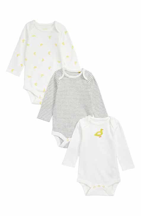 311757fec18 Mini Boden Ducks 3-Pack Organic Cotton Bodysuits (Baby)
