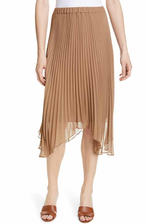 90ad1d5aaa81 Club Monaco Asymmetrical Hem Pleated Midi Skirt
