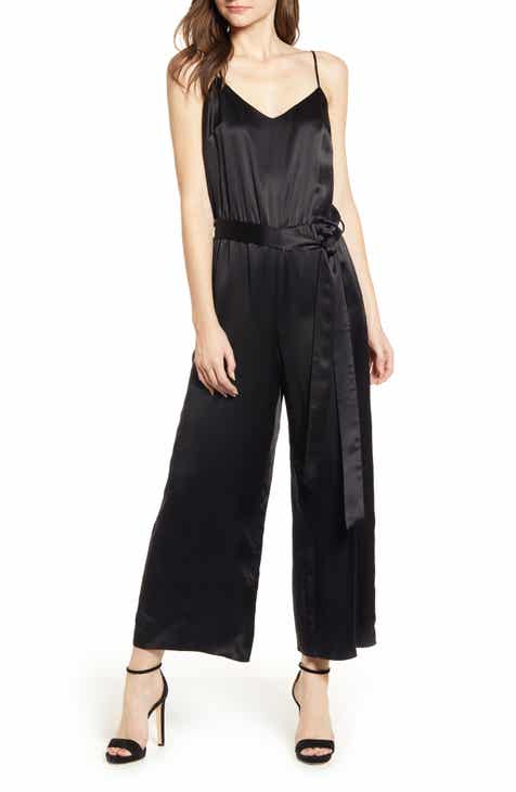 Gal Meets Glam Collection Stephanie Cross Strap Cotton Jumpsuit by GAL MEETS GLAM COLLECTION