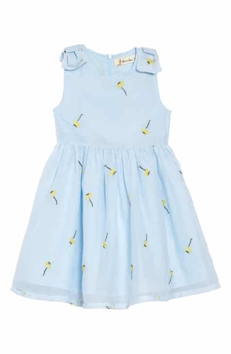 501092ecb06 Doe A Dear Bow Detail Flower Embroidered Dress (Toddler Girls   Little  Girls)