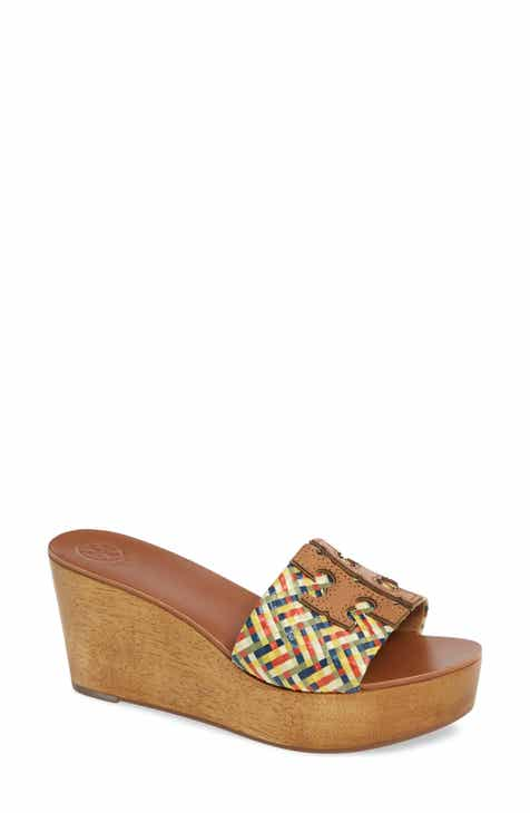 fb322f47e06214 Tory Burch Ines Wedge Slide Sandal (Women)