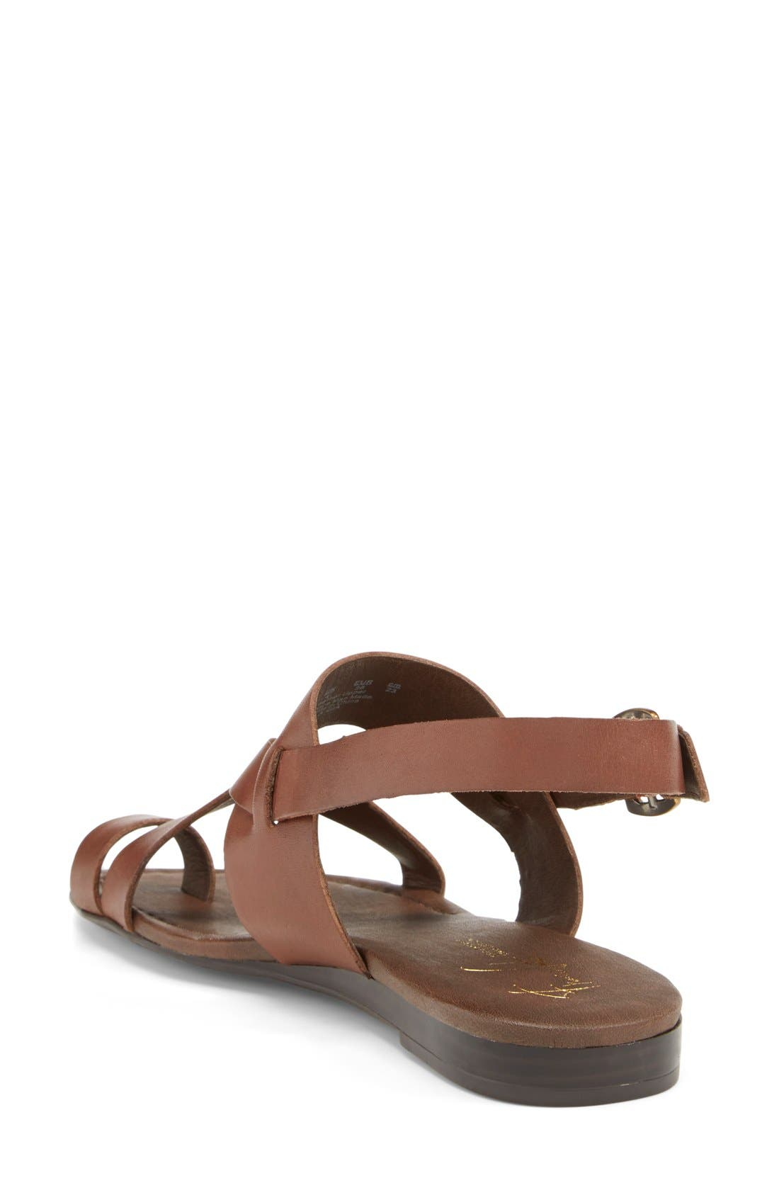 Gia Sandal,                             Alternate thumbnail 2, color,                             Chocolate Antanado